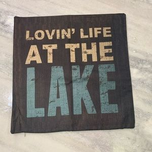 """Lovin Life at the Lake Toss Pillow Cover sz: 17"""""""
